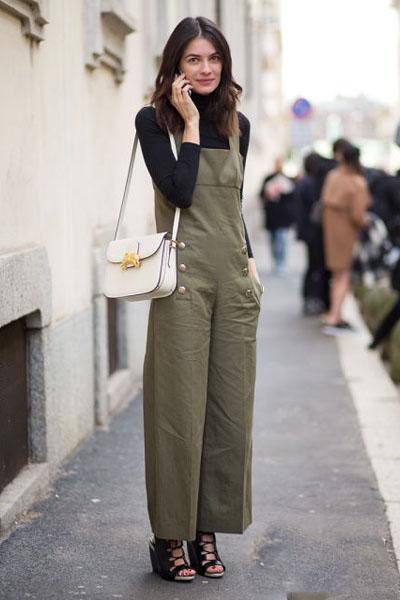 工装背带裤